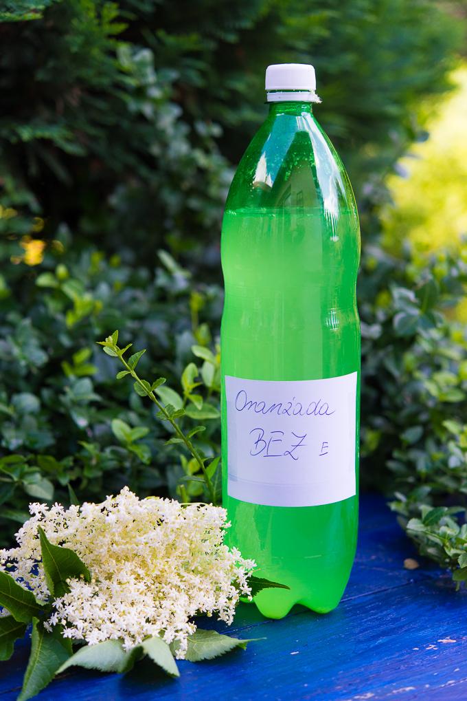 Oranżada z kwiatów bzu wg. Pani Zosi. Naturalnie gazowana.