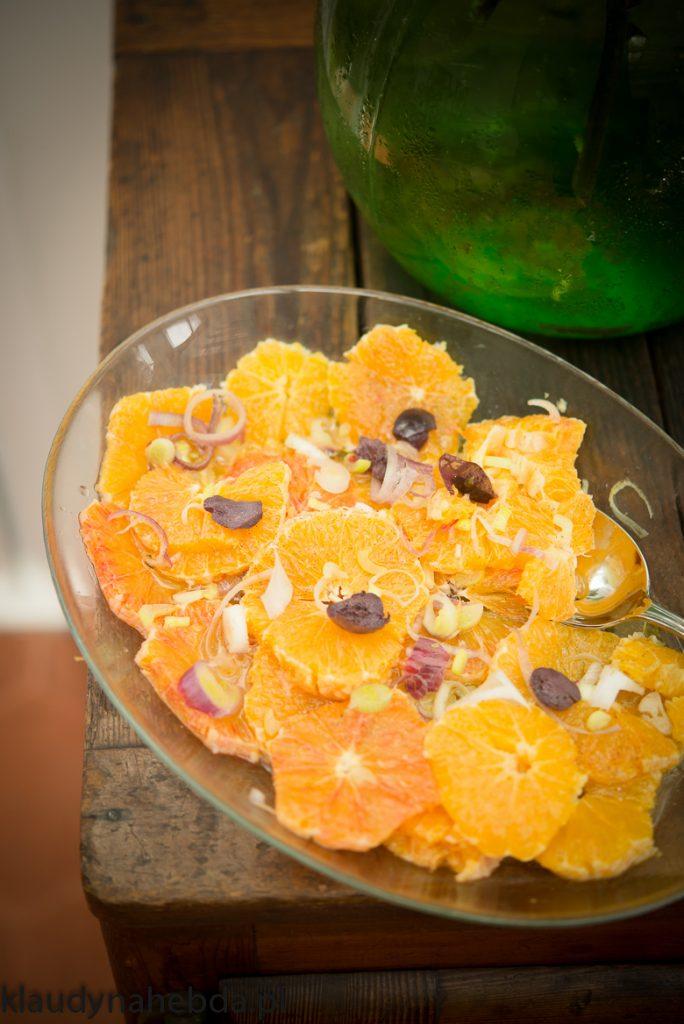 Sycylijska sałatka z pomarańczy