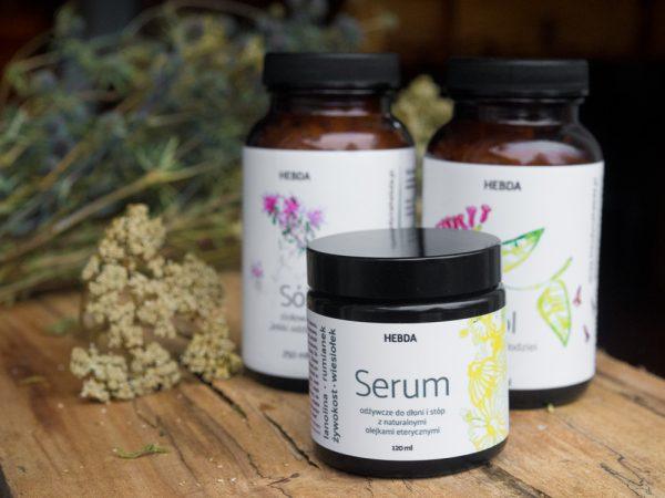 Odżywcze serum do dłoni i stóp z lanoliną i żywokostem