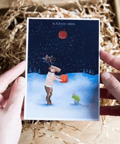 Pudełko świąteczne Kartka świąteczna Klaudyna Hebda sklep