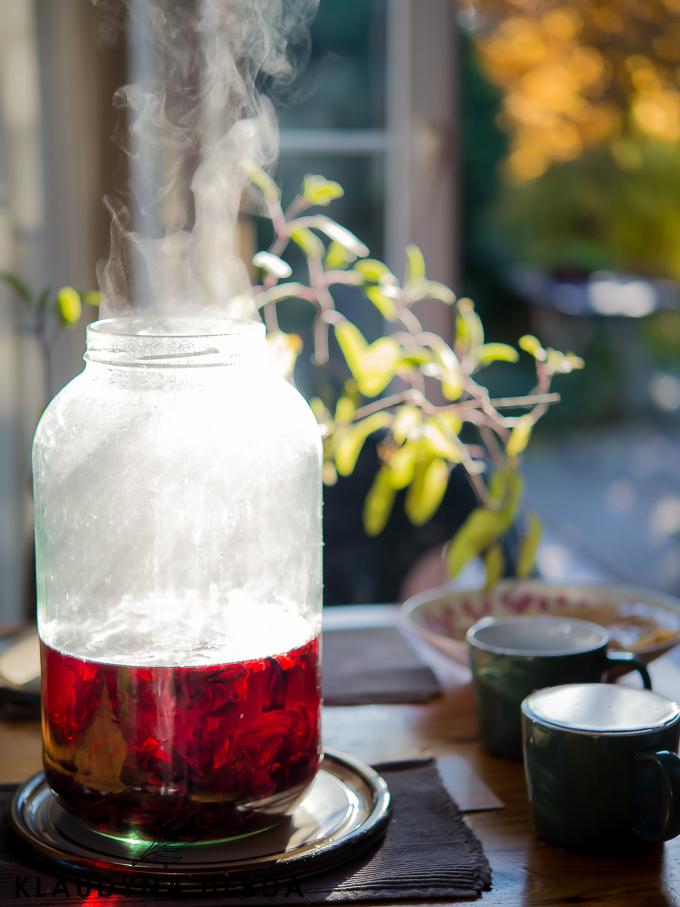 Fermentowana rubinowa herbata hibiskusowa