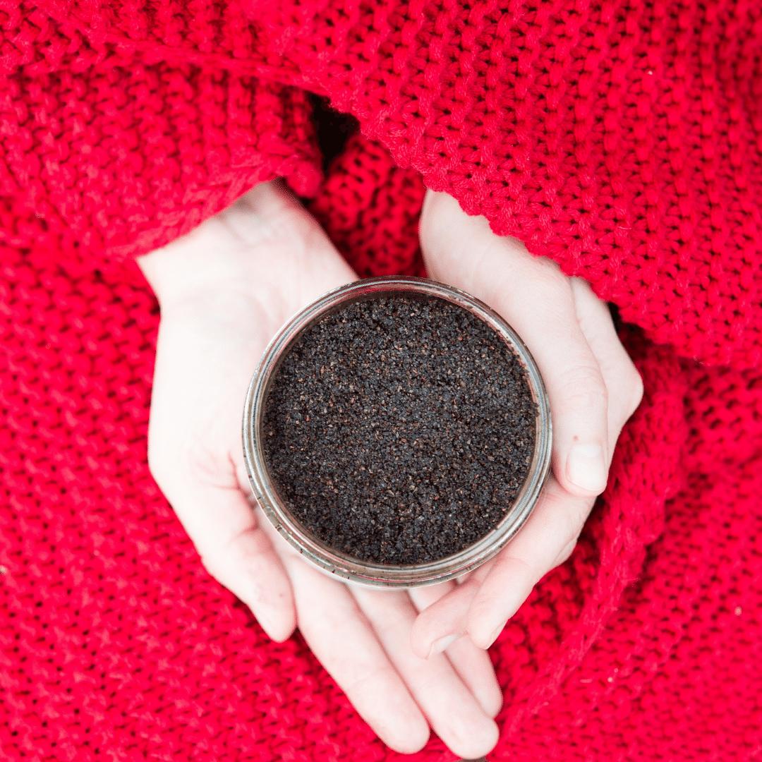 Peeling kawowo-magnezowy Klaudyna Hebda Blog