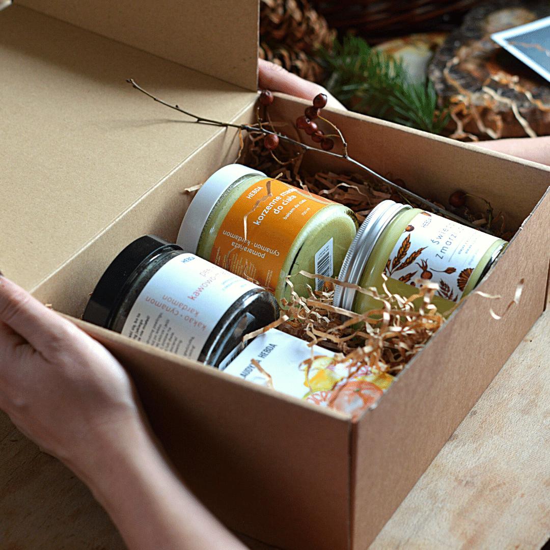 Pudełko świąteczne Olejki eteryczne na święta